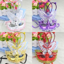 Wholesale Chocolate Factory Toy - free shipping whiilesale Luminous butterfly rain dance performances mask party mask wholesale night market flash toy factory direct selling