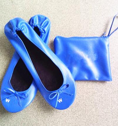 Wholesale Products For Promotion - 2016 New product Pure Promotion Gifts Ballerina Slippers for Wedding Roll up shoe for women