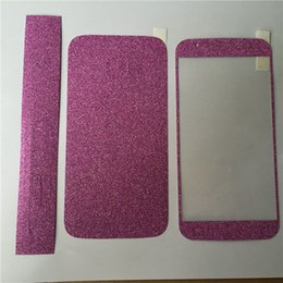 Wholesale Shimmer Sparkle - Full Body Glitter bling Screen Protector Sparkle shimmer Whole Film Skin Shinny Sticker for iPhone 4 4S SE 5 5S 6 6s 6 plus iphone 7 plus
