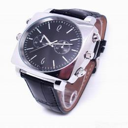 Wholesale Digital Spy Watches - CCTV Video Coding:H.264 watch camera Waterproof HD 720P Spy Hidden camera 8GB 16GB Mini Video Recorder Fashion Leather digital watch