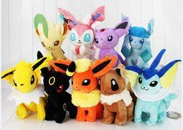 Wholesale Pokemon Stuffed Animals Eevee - Poke Mon 30cm Poke Center Plush Toys Pikachu Dolls Jolteon Umbreon Flareon Eevee Espeon Vaporeon Poke Mon Stuffed Animals 180pcs
