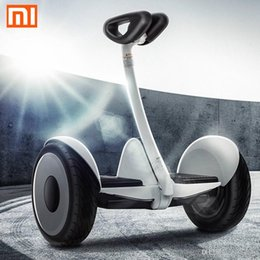 Wholesale Driving Wheel - Xiaomi Ninebot Self balancing Scooter mini Car 16km h 22km Two Unicycle Wheels Smart System Phone APP Alloy body LED Lights