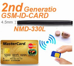 Wholesale REAL NMD L GSM ID Card Box with wireless earpiece Full sets and only GSM card two modle work well in any country