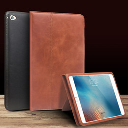 Wholesale Luxury Leather Ipad Mini Cover - Factory Promotion L S 3025 luxury Leather smart stand flip cover for iPad mini 4 case Flip Stents Automatic wake up & sleep function Case