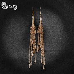 Wholesale Nb Design - mix color New Design Tassel Long Earrings For Women Fashion Spiral Drop Dangle Earring Jewelry Accessories Brinco Bijoux Gift NB