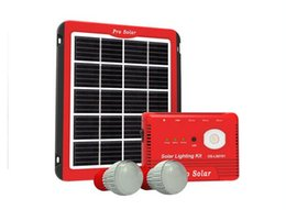 Wholesale Mp5 Kits - New designed cheap Portable solar home lighing kits for Africa market 8000mAH 3.7V battery