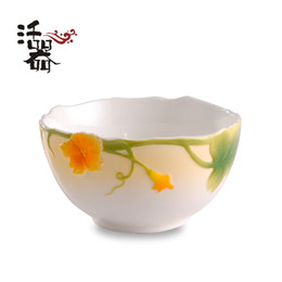 Wholesale Ceramic Bowl Microwave - Ceramic bowl set fashion embossed microwave and the wind personalized cutlery