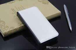 Wholesale Silicone Personalized - 100Pcs lot Personalized DIY case Leather PU sublimation blank flip case with magnet and Card slot For Samsung Galaxy Note 7 iPhone 7 7 plus