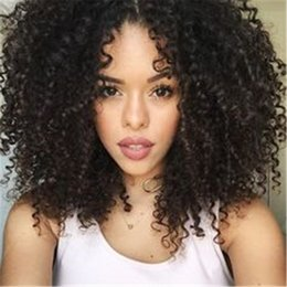 Wholesale Human Hair Afro Wigs Women - Afro Kinky Curly Wig Lace Front Wig Long Wigs For Black Women Unprocessed Full Lace Human Hair Wig