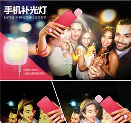 Wholesale 16 Led Flash - CH 16 LED Camera Smart Selfie Fill Flash Light 3.5mm For Android IOS iPhone DS