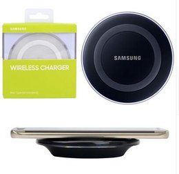 Wholesale Charging Plate - Galaxy S6 Qi Wireless Charger Pad Transmitter Fast Charging Plate For Samsung S6 Edge Mobile Phones Free Ship