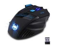 Wholesale Blue Mouse Computers - Computer game E-3lue EMS601WHAA Mazer II 2500 DPI Blue LED 2.4GHz Optical Wireless Gaming Mouse