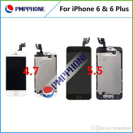 Wholesale Touch Screen Panel Buttons - LCD Display Touch Digitizer with Frame + Front Camera + Home Button Full Assembly Replacement for iPhone 6 iphone 6 Plus Fast shipping