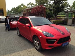 Wholesale Cars Green Matte - Free shipping 1.52m*0.50m Car Body Color Changing Matte Vinyl film Sticker with Air Drains