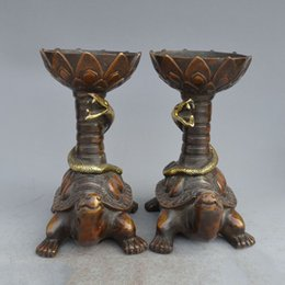 Wholesale Pretty Males - Chinese Collection decoration carved pretty bronze Candlestick home decoration