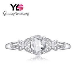 Wholesale Diamond Jewelery - Silver Rings Jewelry Jewelery Rings S925 Sterling Silver Inlaid Zircon Clover Oval Zirconium Diamond Ring