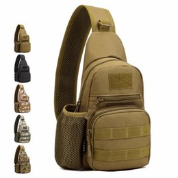 Wholesale Gold Water Bottles - Wholesale-1Pcs Military Nylon Tactical Messenger Sling Shoulder Waterproof Water Bottle Chest Bags Outdoor Travel Sports