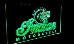 LS087-g Indian Motorcycle Services Logo Letrero de luz de neón desde fabricantes