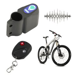 Wholesale Bicycle Auto - Professional Anti-theft Bike Lock Cycling Security Lock Remote Control Vibration Alarm Bicycle Vibration Alarm drop shipping