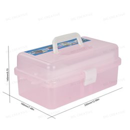 Wholesale Multi Nail Art Craft - Manicure Salon Kit Accessories Multi Utility Storage 3 Layer Plastic Case Makeup Craft for Nail Art Makeup tools