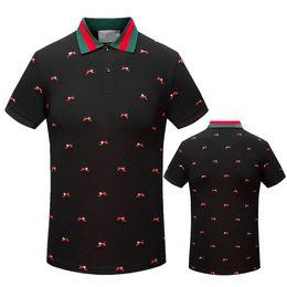 Wholesale Free Business Shirts - 2017 Fashion Casual Italian Men's New Summer G & G Short Sleeve Lapel Cotton High Quality Polo T-Shirt Men's Business T-Shirt Free Shipping