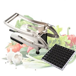 Wholesale Chip Slicer Machine - Stainless Steel Home French Fries Potato Chips Strip Cutting Cutter Machine Maker Slicer Chopper Dicer free shipping HY1096