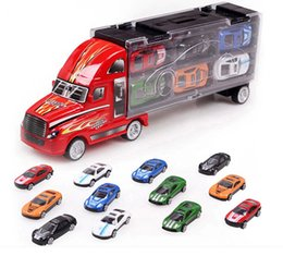 Wholesale Car Container Ships - Zorn toys-kids gifts portable Container car truck 12 mini alloy car Racing model toys Wholesale Free shipping