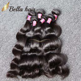 Bella Hair® 8A Peruano Indio de Malasia Brasileño Extensión del cabello Onda del cuerpo Color natural 4pcs / lot Longitud de la mezcla El cabello teje la trama 8 ~ 30 desde fabricantes