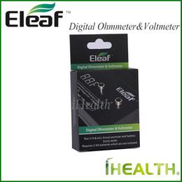 Wholesale Original Tester - Eleaf Digital Ohm Meter Volt Meter ohm Reader Atomizer Resistance Tester Ohmmeter Voltmeter 100% Original Free Shipping for ePacket