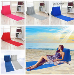 Wholesale Inflatable Sky - Inflatable Garden Lawn Pad Beach Mat Outdoor PVC Flocking Triangle Inflatable Pillow Cushions Pads 6 color KKA2671