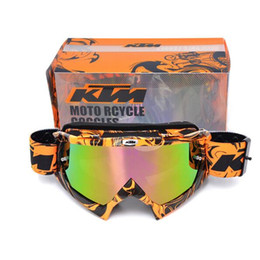 Wholesale Dh Mtb - KTM brand Motocross goggles ATV DH MTB Dirt Bike Glasses Oculos Antiparras Gafas motocross Sunglasses Use For Motorcycle Helmet