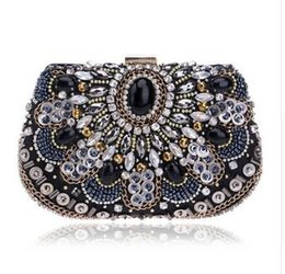 Wholesale Black Beaded Purse - NEW women evening bags beaded wedding handbags clutch purse evening bag for wedding day clutches purse evening bags