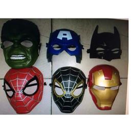Wholesale Adult Captain America Mask - New Hot LED Glowing Light Mask hero SpiderMan Captain America Hulk Iron Man Mask For Kids Adults Party Halloween Birthday JU176