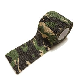 Wholesale Wholesale Tape Cloth - 20g 4.5m Outdoor Shooting Hunting Camera Tools Waterproof Wrap Durable Cloth Army Camouflage Tape Hunting Accessories