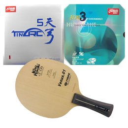 Wholesale Dhs Neo Rubber - Galaxy Venus.1 Blade with DHS TinArc 5 and NEO Hurricane 3 Rubbers for a table tennis PingPong racket