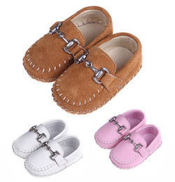 Wholesale Walking Shoes Infant Toddler Leather - New Infant Toddler Walking Shoes Full Handmade Sewing Moccasins Genuine Suede Leather Patchwork Slip-on Anti-slip Anti-friction Soft Sole