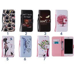 Wholesale Wallet Design Patterns - Wallet Card Slots Flip PU Leather Bach Cover Pouch Stand Case For iPhone 7 i7 7 Design Pattern