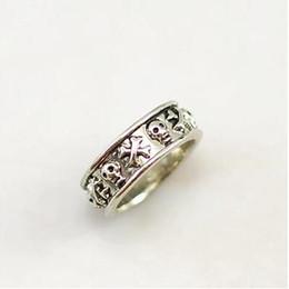 Anéis de ouro mini on-line-Vintage personalidade de prata de ouro anel de caveira moda punk esqueleto pequenos acessórios midi anel mini anel para mulheres homens presente do dia das bruxas