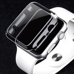 Argentina 38mm 42mm Funda de cubierta completa para Apple Watch Series 2 Ultra Thin Crystal Clear Hard Protector de pantalla completa Series 3 1 Fundas transparentes de Coque Suministro