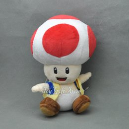 "Wholesale Toad Mario Plush Toy - Free Shipping EMS Toad 7"" Super Mario Bros. Plush Doll Stuffed Toy Plush Toys Gifts New"