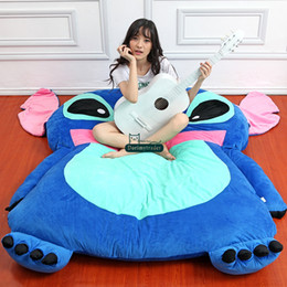 Wholesale Beanbag Free Shipping - Dorimytrader Japan Anime Stitch Tatami Giant Soft Plush Thickened Beanbag Bed Carpet Mattress Bedding Pad Free Shipping DY60840