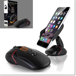 Wholesale Packaging Design Cell Phone - 2016 new design cell phone holder mouse like mount with suction cup for hold suit for samsung iphone cell phone with retail package
