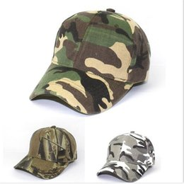 Wholesale Red Military Peaked Cap - Camouflage Printed Men Ball Caps Outdoors Travel Fashion Hats Umisex Military Hat Adjustable Training Peaked Caps