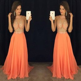Wholesale Brown List - New Listing High Neck 2017 Prom Dresses Long Crystal Beading Prom Gowns Party Gowns