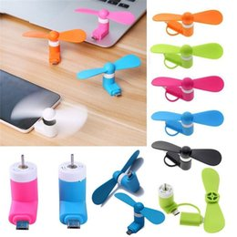 Wholesale Otg Mini - 100% Tested Mini USB fan for Android OTG smartphones Mini USB Gadget with opp bag package