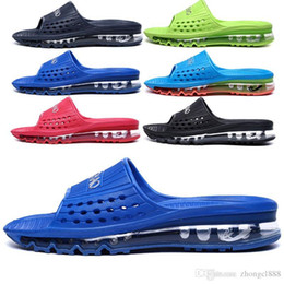 Wholesale New Beach Shoes Mens Sandals - 2017 New Air Mens Flip Flop Cushioning Breathable Massage Sneakers Sport Shoes New Male Athletic Summer Sandals