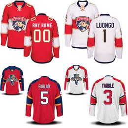 5516dcc2e Florida Panthers Jersey Men s 3 Keith Yandle 6 Alex Petrovic 19 Michael  Matheson 100% Stitched Embroidery Logos Custom Hockey Jerseys