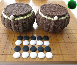 Juegos de ajedrez chinos online-Envío gratis Yunnan yunziweiqi Backgammon Bamboo 2 cm de espesor Retículo Dual Tablero de ajedrez Ajedrez chino Weiqi Set