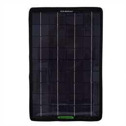 Wholesale Solar Cells 12 - Batteries Cells, Solar Panel ECO-WORTHY 12 Volts 10 Watts Portable Power Solar Panel Battery Charger Backup for Car Boat with Alligator
