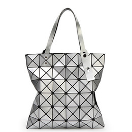 Wholesale Folding Envelopes - 2016 Fashion Rhombus Shoulder Bags Ladies Handbags Bags with Geometric Lattice Folding Women Designers Purse Bags Retro Messenger Handbags